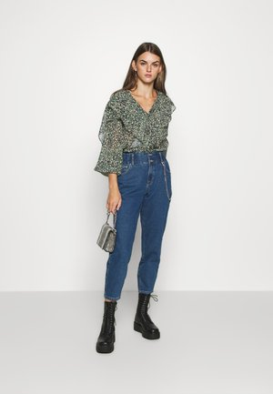GRUNGE RUFFLE BLOUSE - Button-down blouse - multi
