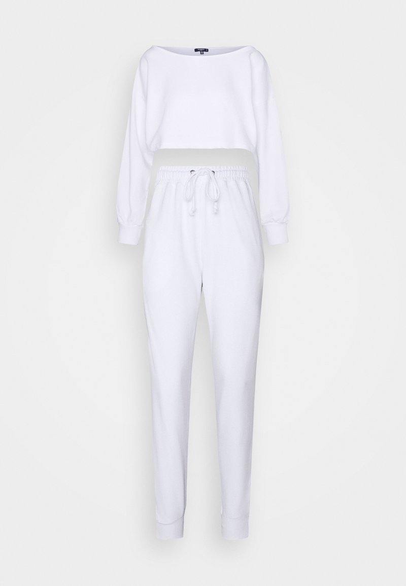 Missguided Petite - COORD OFF THE SHOULDER  - Sweater - white
