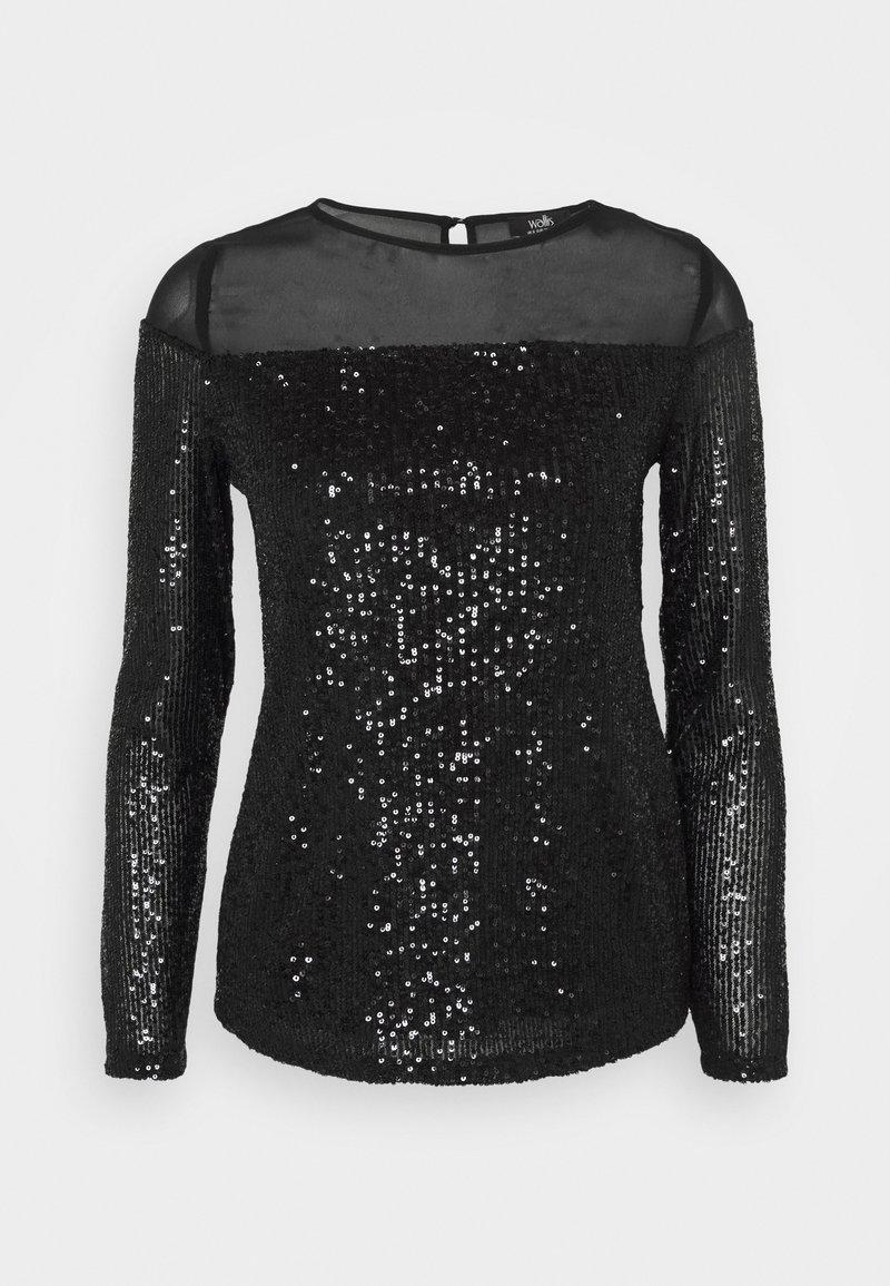 Wallis - LONG SLEEVE  - Bluzka z długim rękawem - black