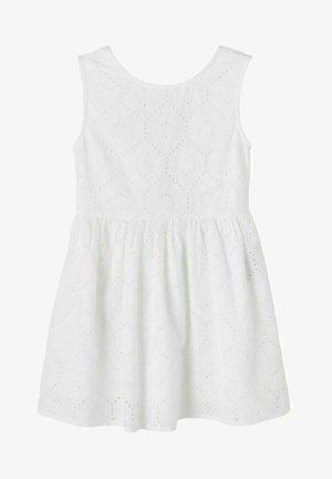 LOCHSTICKEREI - Korte jurk - bright white