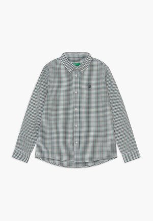 Shirt - white/green/blue