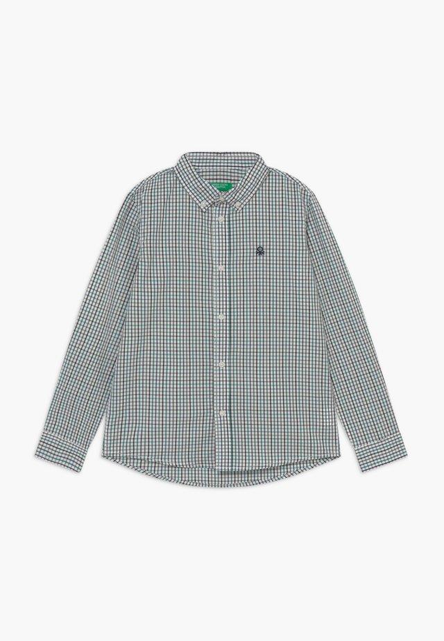Shirt - white/green/blue