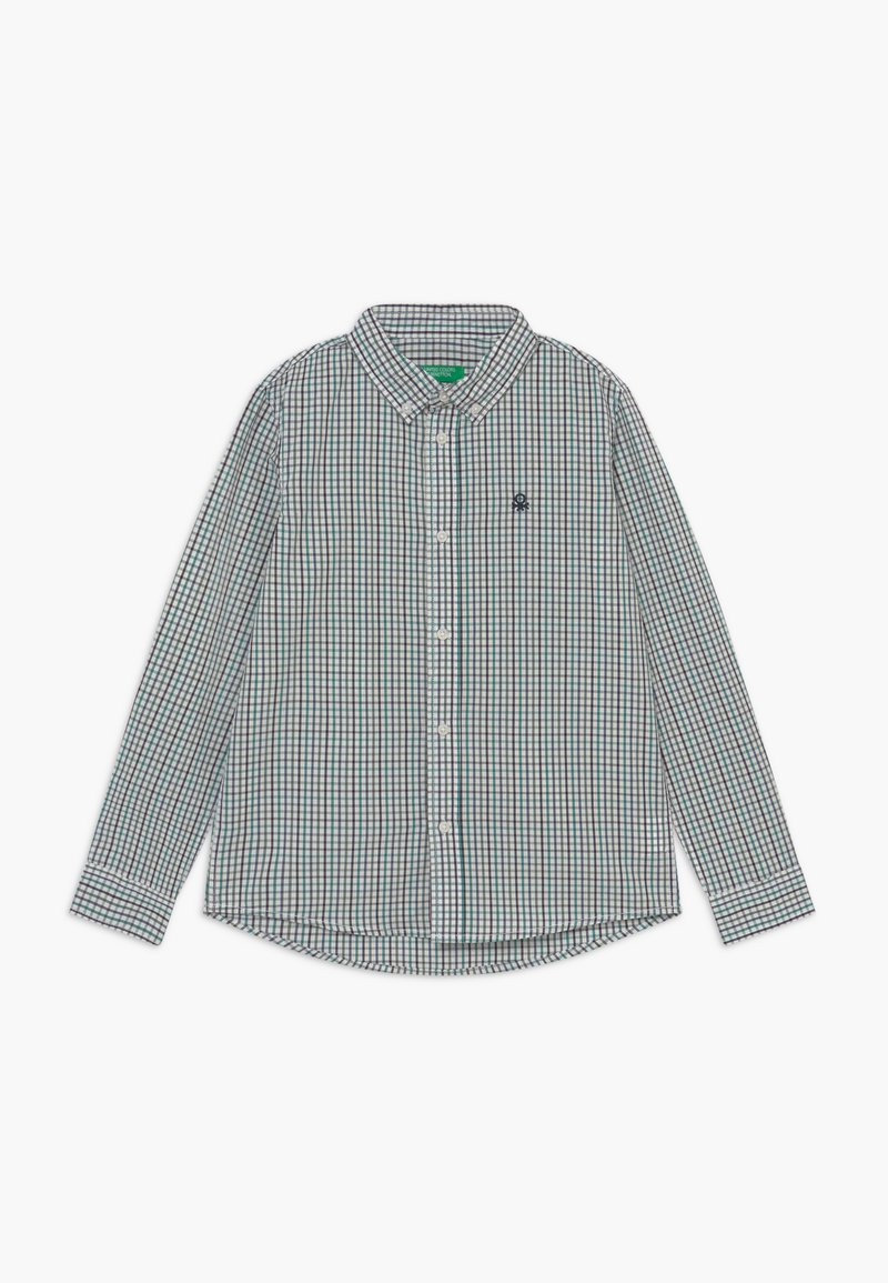 Benetton - Shirt - white/green/blue