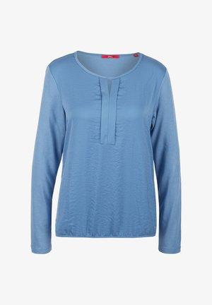MIT PLISSEE-DETAIL - Blouse - light blue