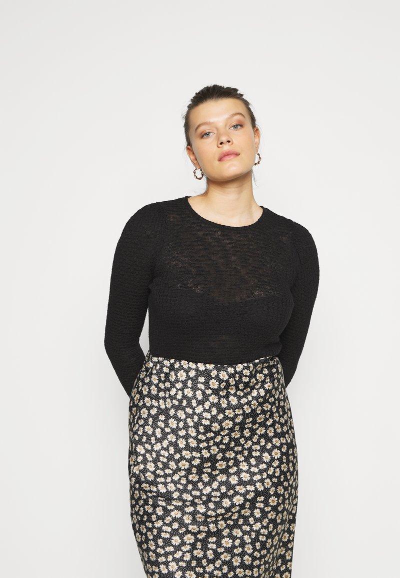 Vero Moda Curve - VMMAYA - Jersey de punto - black