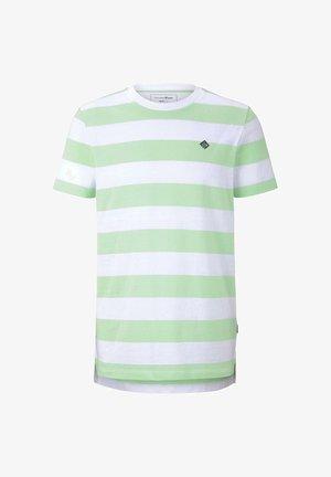 Print T-shirt - mint block