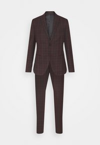 Isaac Dewhirst - SINGLE BREASTED TARTEN SUIT SET - Completo - red - 9