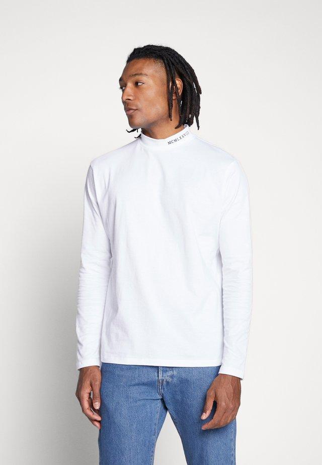 UNISEX BRANDED TURTLE - Pitkähihainen paita - white
