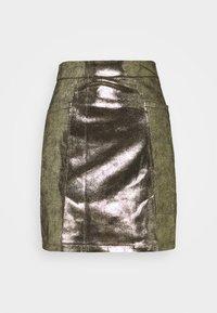 LADIES SKIRT PREMIUM - A-line skirt - gold