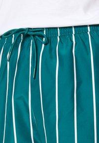 Weekday - STRIPED SWIM - Swimming shorts - petrol green/white - 4