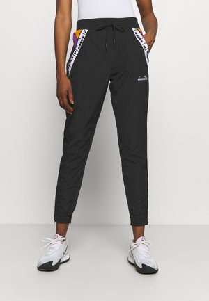 PANTS - Joggebukse - black/hyacinth volt/autumn glory