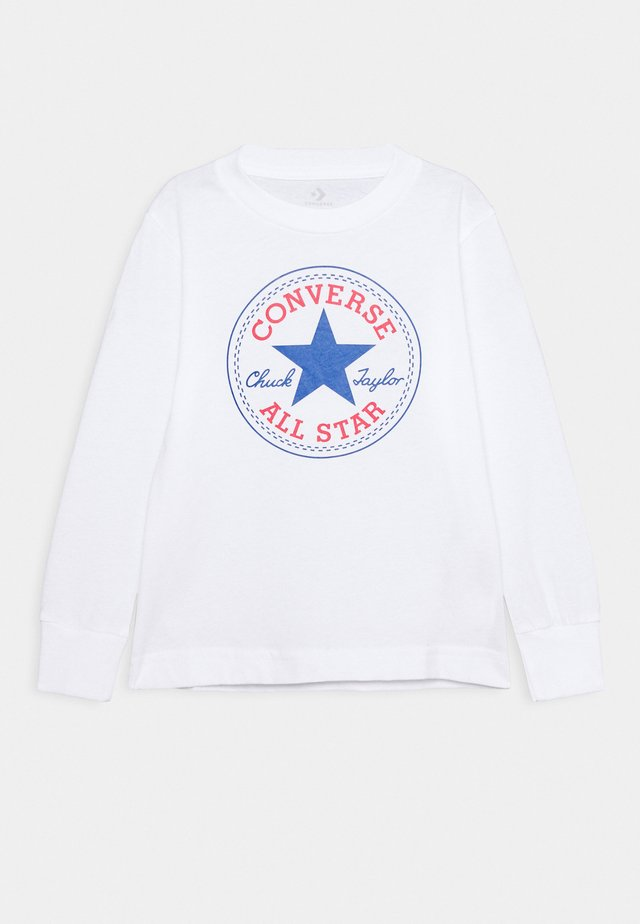 CHUCK PATCH LONG SLEEVE TEE UNISEX - Long sleeved top - white