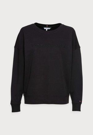 OVERSIZED TONAL OPEN - Sweatshirt - black