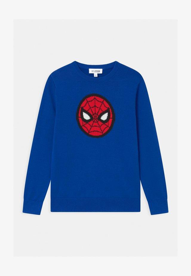 BOYS SUPERMAN - Pullover - admiral blue