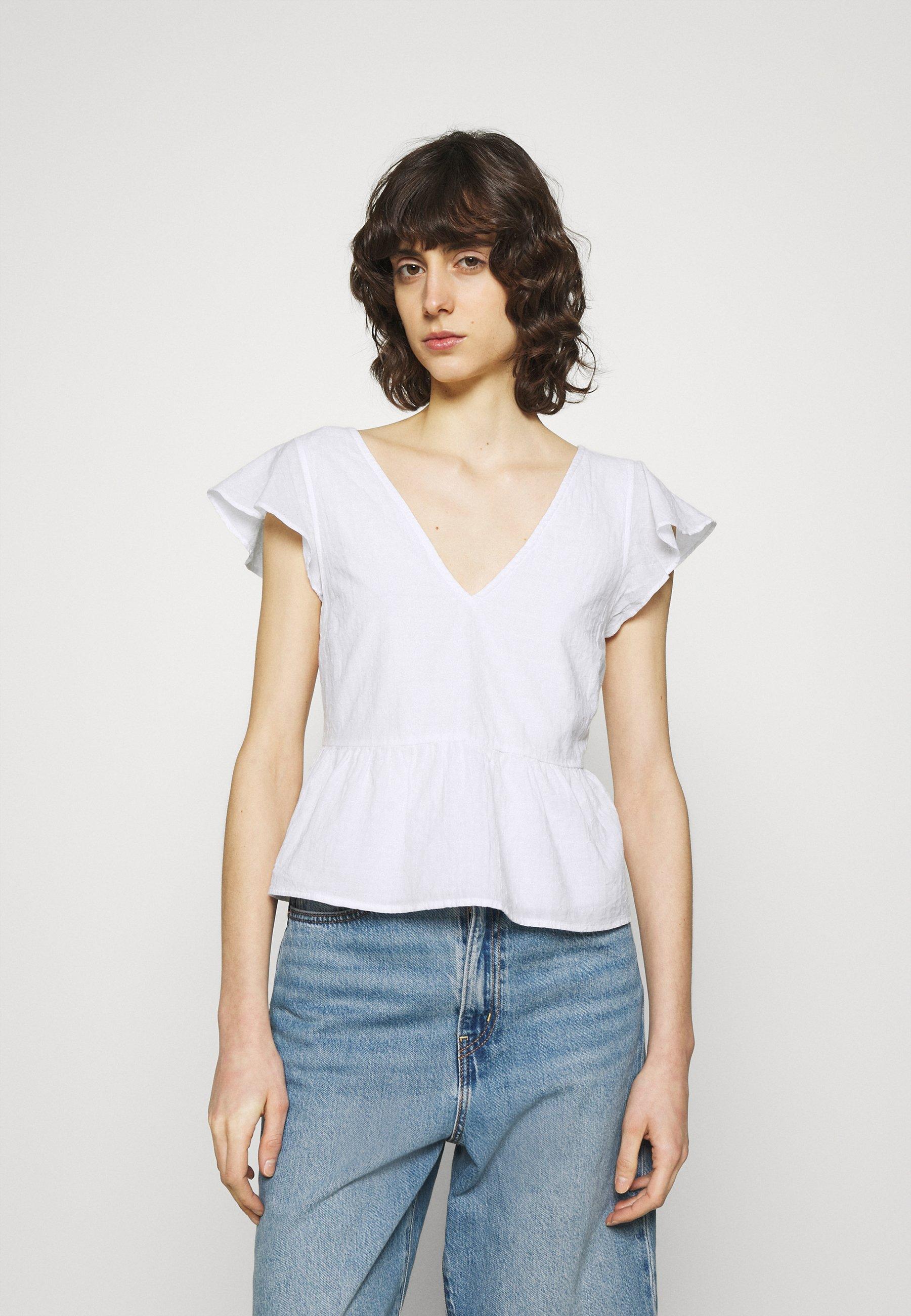 Femme VOLUME SMOCKED BABYDOLL - T-shirt imprimé