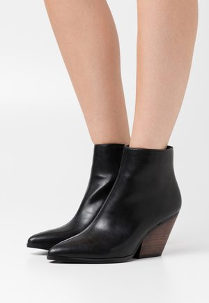 WESTERN HEEL POINTY - Boots à talons - black