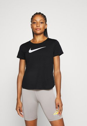 RUN - T-shirt imprimé - black/silver/white