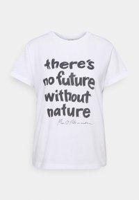 Marc O'Polo - SHORT SLEEVE ROUND NECK - Print T-shirt - white - 0