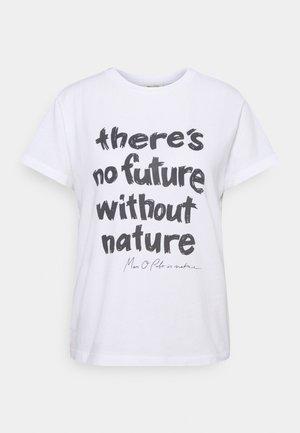 SHORT SLEEVE ROUND NECK - Camiseta estampada - white