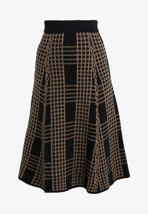 TEJA - A-line skirt - camel/black