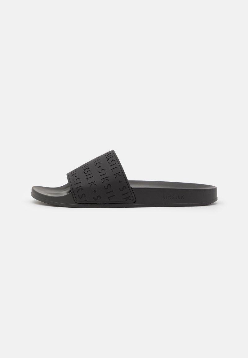 SIKSILK - SOLAR SLIDES - Pantofle - black