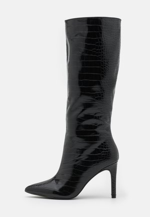 MID STILETOE TUBULAR BOOTS - Boots - black