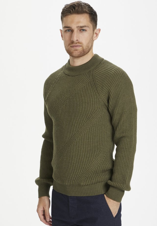 Strickpullover - ivy green