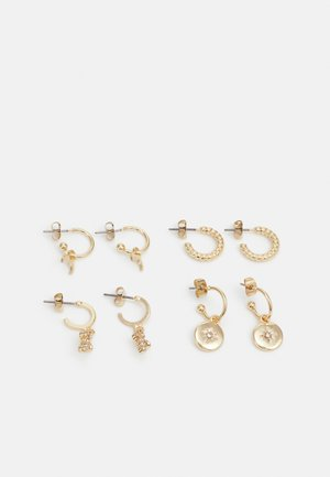 PCZAHRAA EARRINGS 4 PACK - Øredobber - gold-coloured