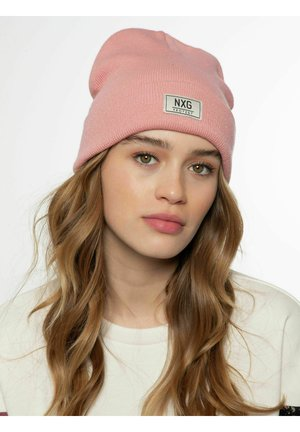 Beanie - silver pink
