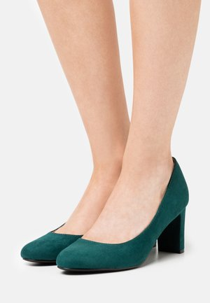 DENVER ALMOND TOE COURT - Classic heels - teal
