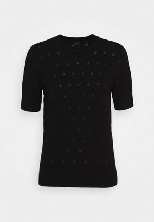 BURNOUT DOT - Basic T-shirt - black