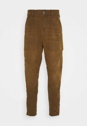 FATIGUE RELAXED TAPERED - Cargo trousers - pite stretch canvas rfd - dk sinai suede cobler