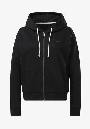 TRAINING ESSENTIALS LOGO HOODIE - Zip-up hoodie - black