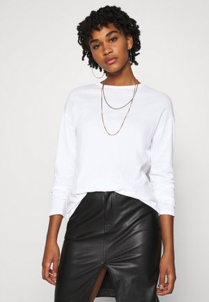 LONG SLEEVE BASIC - Top s dlouhým rukávem - white