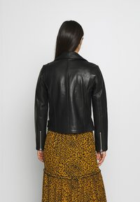 Pieces - PCNICOLINE JACKET - Leather jacket - black - 2