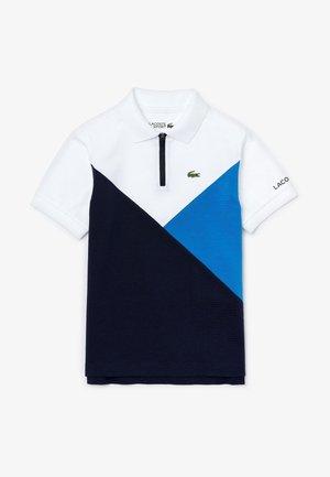 Polo - blanc / bleu / bleu marine