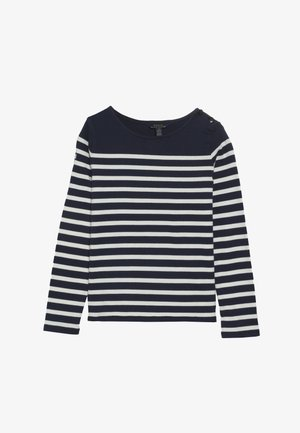 Long sleeved top - french navy/clubhouse cream