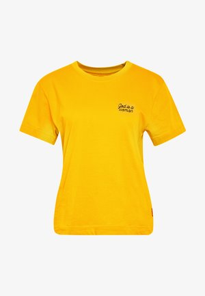MYSEN GOD IS A WOMAN - Basic T-shirt - yellow