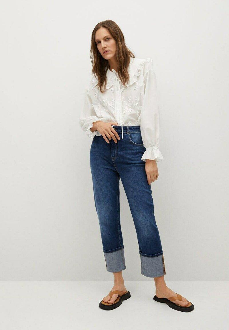 Mango - IBIZA - Button-down blouse - cremeweiß