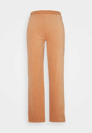 ONLAZZA LONG WIDE PANTS - Trousers - camel