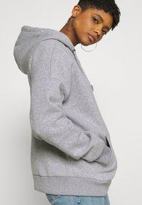 Even&Odd - OVERSIZED HALF ZIP SWEAT  - Hoodie - mottled light grey - 4