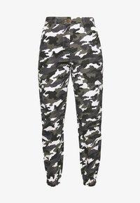 Missguided Petite - HIGH WAISTED CAMO CARGO TROUSERS - Pantaloni - grey - 3
