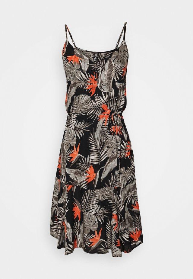 PCNYA SLIP BUTTON DRESS - Day dress - black