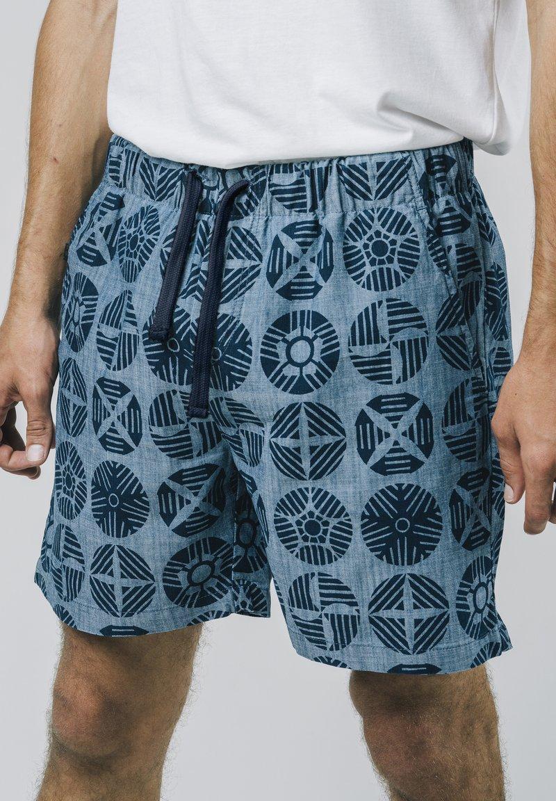 Brava Fabrics - GEOCIRCLES - Shorts - blue