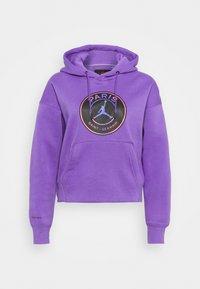 JORDAN PARIS ST GERMAIN HOODIE CORE - Klubové oblečení - wild violet