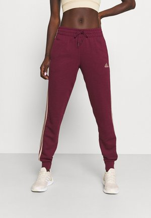 ESSENTIALS FRENCH TERRY STRIPES PANTS - Tracksuit bottoms - victory crimson/halo blush