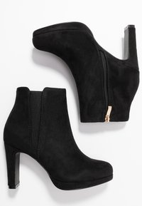 Anna Field Wide Fit - High heeled ankle boots - black - 3