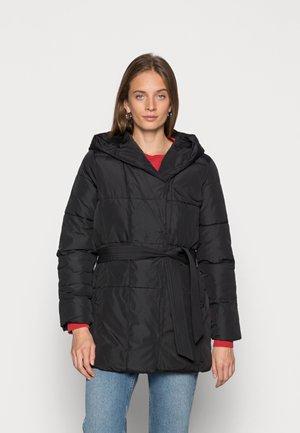 HOODED COAT - Winter coat - black