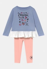 Converse - PLEATED PEPLUM LONG SLEEVE SET - Sweatshirt - storm pink - 0