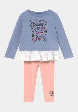 PLEATED PEPLUM LONG SLEEVE SET - Sweater - storm pink